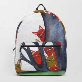 Sarasota Whimsical Cats in Tree Backpack