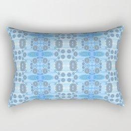 Healing Ultra Blue HD Retro Floral Rectangular Pillow