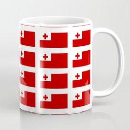 Flag of Tonga -Tonga,Tongatapu,Nukuʻalofa,Tongan,pa'anga,Vava'u, Ha'apai, Tongatapu. Coffee Mug