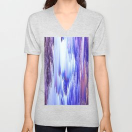 Abstract Electro One Unisex V-Neck