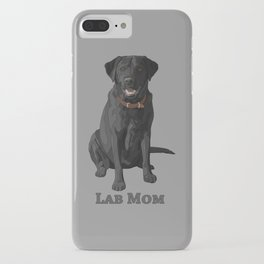 Dog Mom Black Labrador Retriever iPhone Case