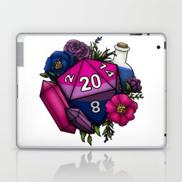 Pride Bisexual D20 Tabletop RPG Gaming Dice Laptop & iPad Skin