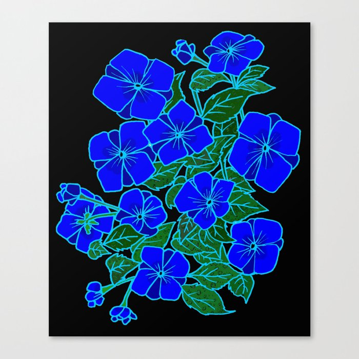 Blue Violets #6 Canvas Print