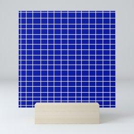 Squares of Blue Mini Art Print