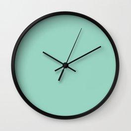 Monocolor Mint Green Wall Clock