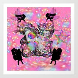 Clusters of Rainbows - Fairies Art Print
