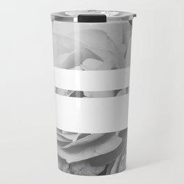 White Stipe Roses Travel Mug