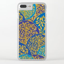 Golden trees Clear iPhone Case