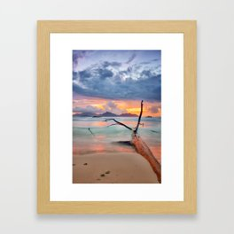 colors of seychelles Framed Art Print