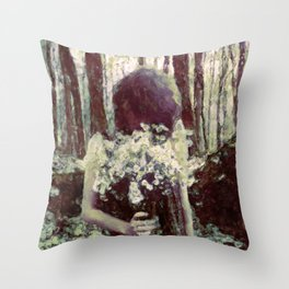 Silenced By The Night Throw Pillow