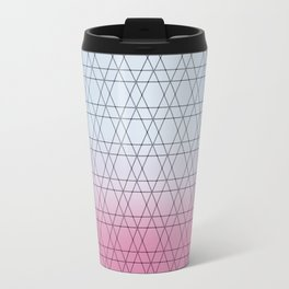 Blue Diamonds and Pink Shades Travel Mug