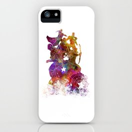 Avenger 02 in watercolor iPhone Case