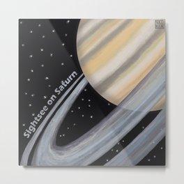 Sightsee On Saturn Metal Print
