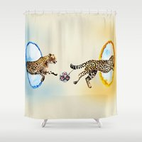portal Shower Curtains featuring Portal by Anna Shell