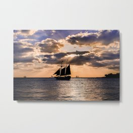 Sunset in Key West, Florida Metal Print