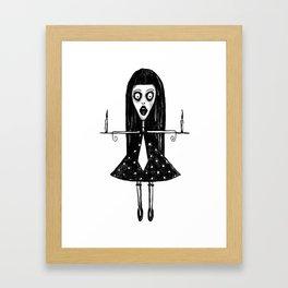 Girl with candels Framed Art Print