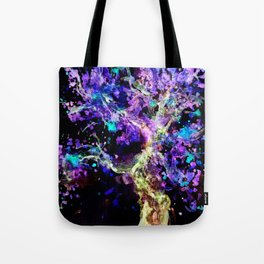 Wild Neon Apple Tree Watercolor by CheyAnne Sexton Tote Bag