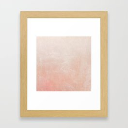 Peachy Ombre Framed Art Print