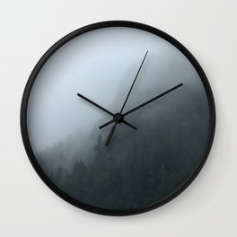 Misty Trees Wall Clock