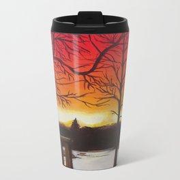 Home of Beautiful Sunsets Metal Travel Mug