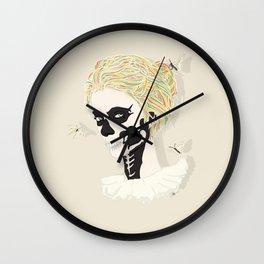 Skull Arlequin Wall Clock