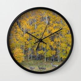 Aspen Forest and Deer Wall Clock