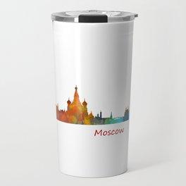 Moscow City Skyline art HQ v1 Travel Mug