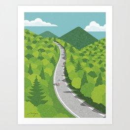 Going uphill Art Print