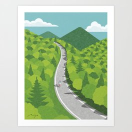 Going uphill Art Print