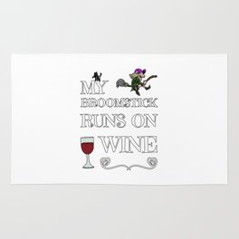 Halloween Costume Decoration Wine Lover Witch Witches Broom Rug