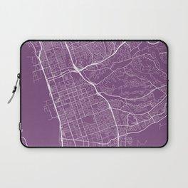 Chula Vista Map, USA - Purple Laptop Sleeve