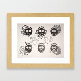 Gas Mask Motif Framed Art Print