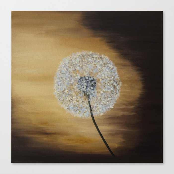 Dusky Dandelion  Canvas Print