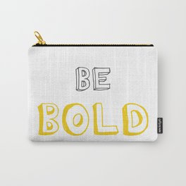 Be Bold Yellow/Grey Carry-All Pouch