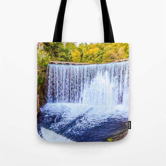 Monk's waterfall Tote Bag