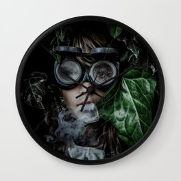 Steampunk girl Wall Clock
