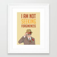boardwalk empire Framed Art Prints featuring Boardwalk Empire 'Forgiveness' by JDGC