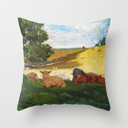 Warm Afternoon - Digital Remastered Edition Throw Pillow