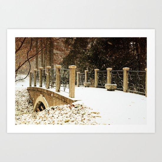 A winter crossing Art Print