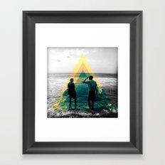 Shape of the ocean Framed Art Print