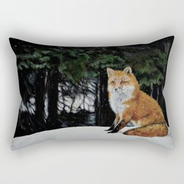 Red Fox of Algonquin by Teresa Thompson Rectangular Pillow