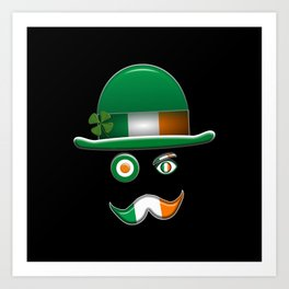 Irish Flag Face. Art Print
