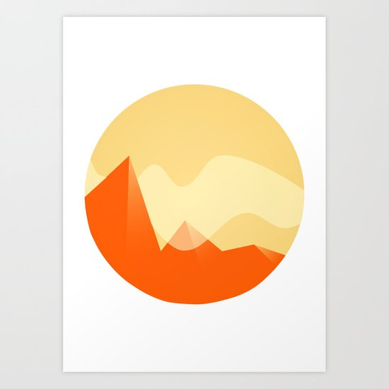 Simple Valley Art Print