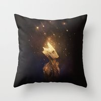 groot Throw Pillows featuring Groot: Spores by megatruh