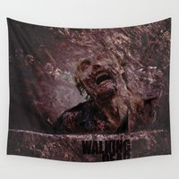 the walking dead Wall Tapestries featuring The Walking Dead by Sney1