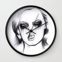 metal Wall Clocks featuring Metal. by Rosalie Kate.