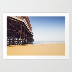 Summer Pier - Blackpool Art Print
