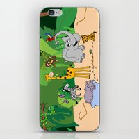 jungle iPhone & iPod Skins featuring JUNGLE by Rebecca Bear
