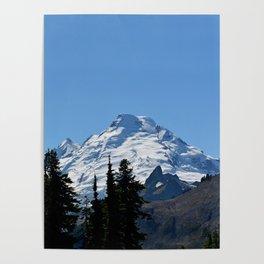 Snow Cap on the Mountain Poster