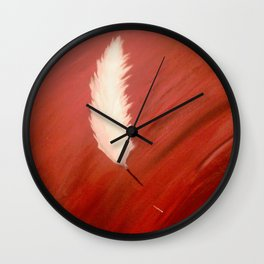 Blood, Feather & Fate Wall Clock